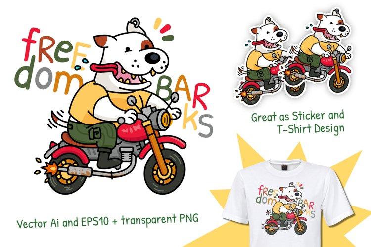 Dog Biker-Freedom Barks Logo Mascot