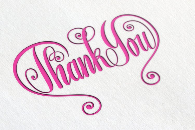 Thank You Butterfly Lettering SVG example image 1