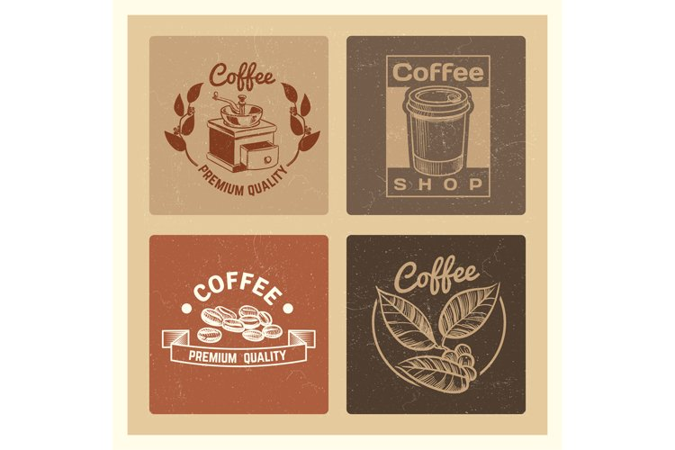 Coffee shop vintage banners template of collection example image 1