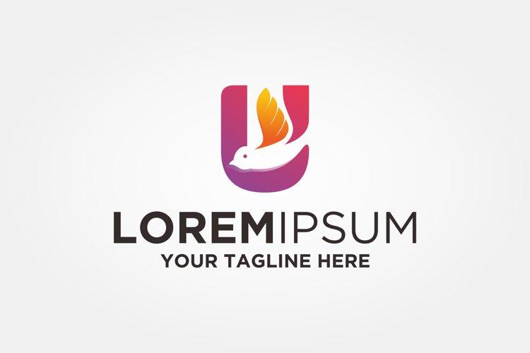 Letter U Bird Logo example image 1