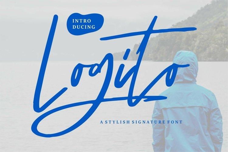 Web Font Logito - A Stylish Signature Font example image 1