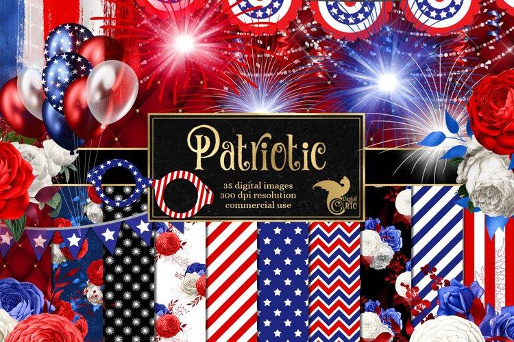 Patriotic Digital Scrapbook Kit