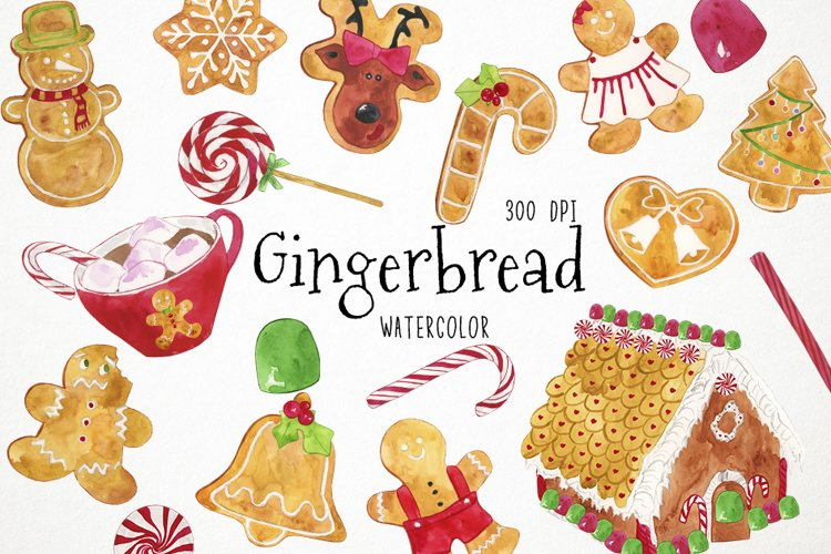 Christmas Cookies Clipart, Christmas Clipart, Gingerbread Cl