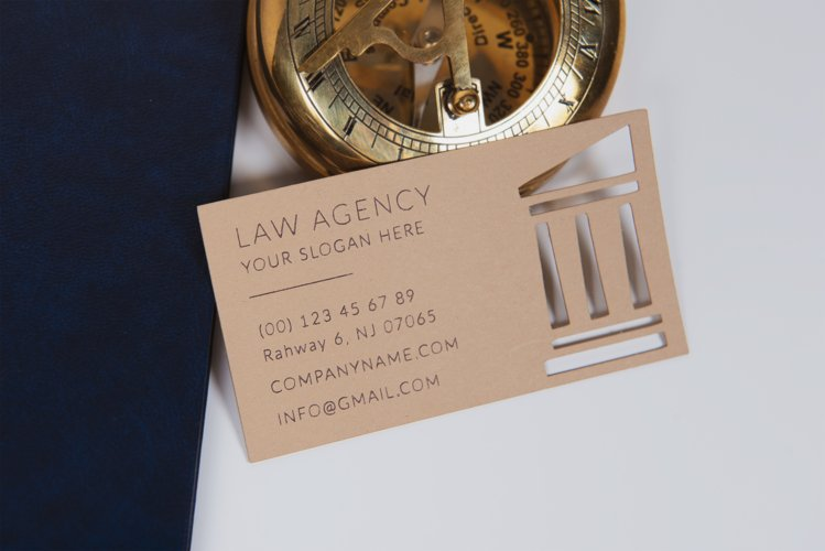 Law agency business card template cutting file example image 1