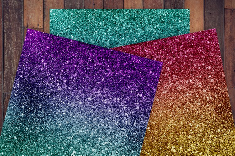 Ombre Glitter Digital Paper - Free Design of The Week Design0