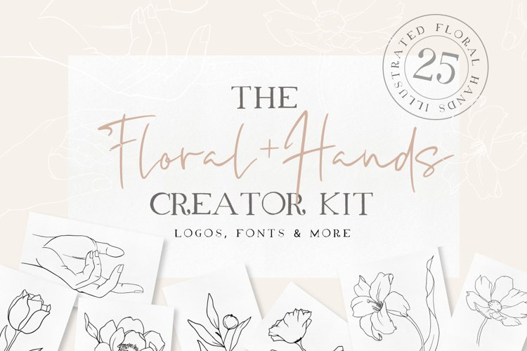 Floral Hands Creator Kit example image 1