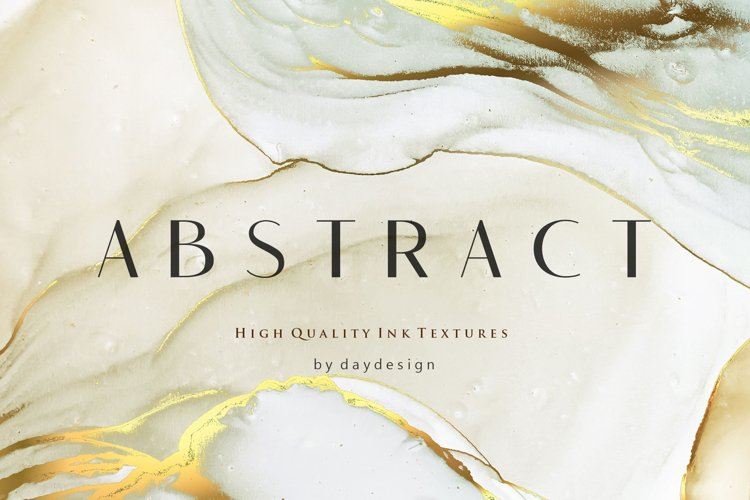Abstract Alcohol Ink Gold Backgrounds example image 1