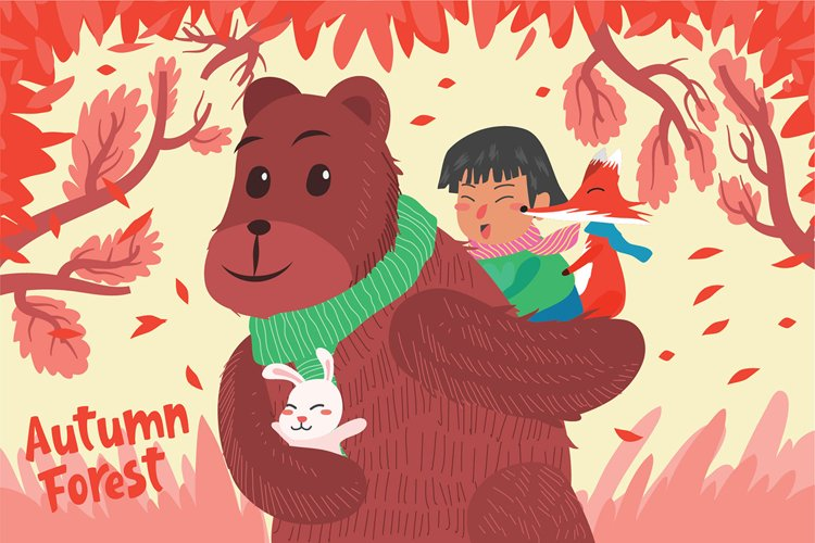 Autumn Forest - Vector Illustration example image 1