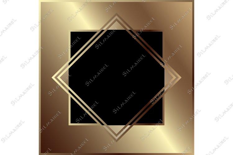 Download Art Deco Golden Geometric Metal Frame Border Retro Vintage 866028 Decorations Design Bundles