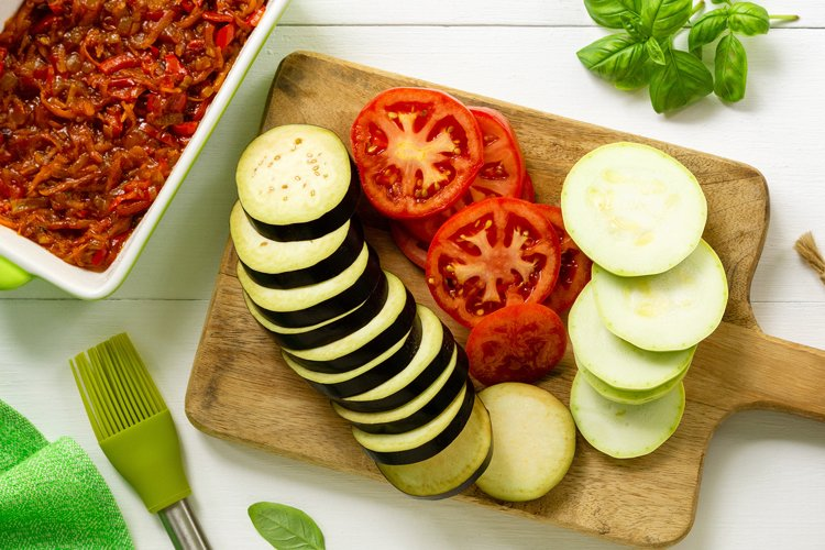 Ingredients for cooking ratatouille example image 1
