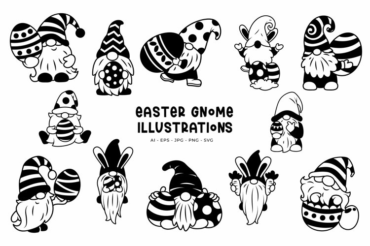Easter Gnome illustrations example image 1