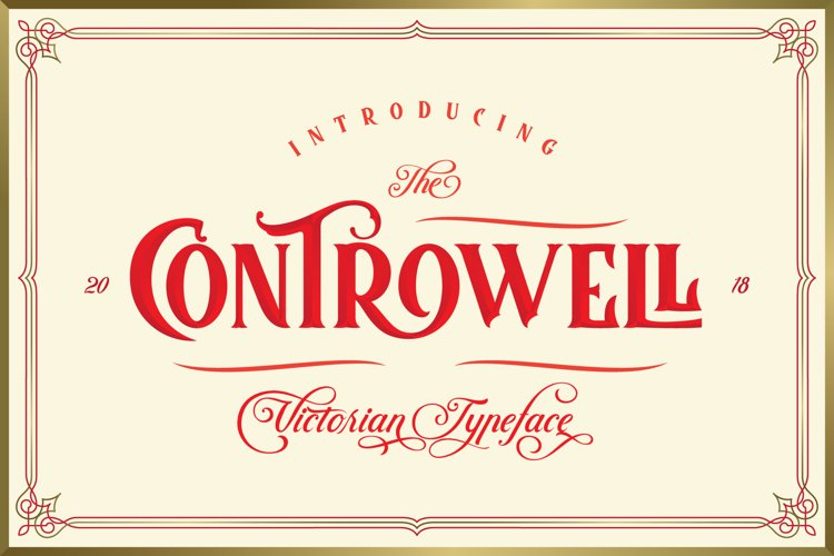 Controwell Victorian Typeface example image 1