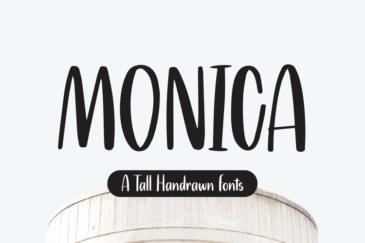 Web Font Monica - Tall Handrawn Font example image 1