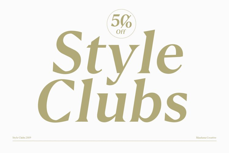 Style Clubs Serif - 50 OFF example image 1
