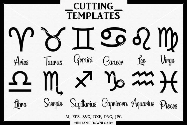 Zodiac SVG Bundle, Zodiac Sign SVG, Silhouette, Cameo, SVG