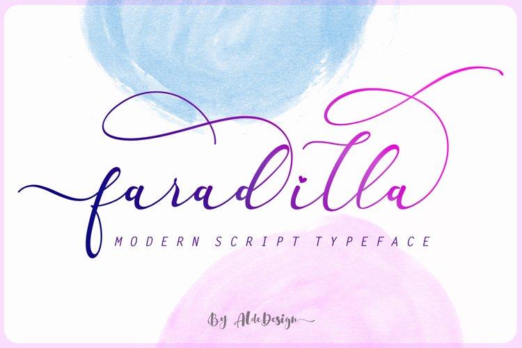 Faradilla - Beautiful Script example image 1