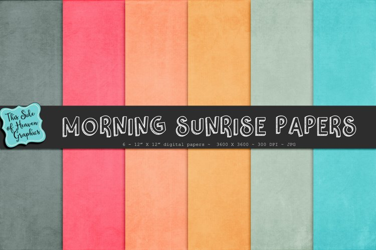 Textured Digital Scrapbook Papers - Morning Sunrise