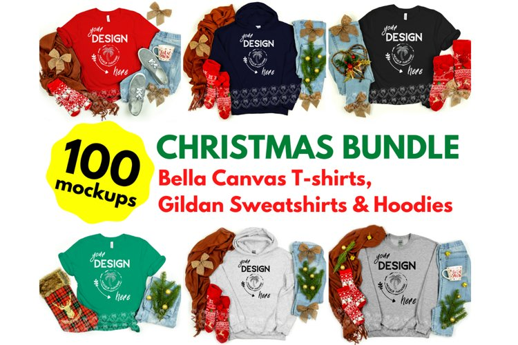 Tshirt Mockup Bundle - Bella Canvas - Gildan Mockup Bundle example image 1