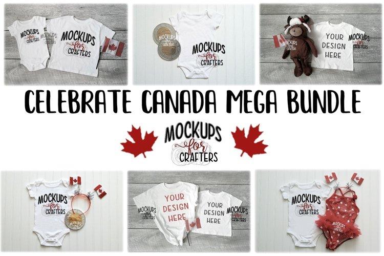 MOCK-UP BUNDLE CANADIAN THEME - BABY BODYSUITS, T-SHIRTS example image 1