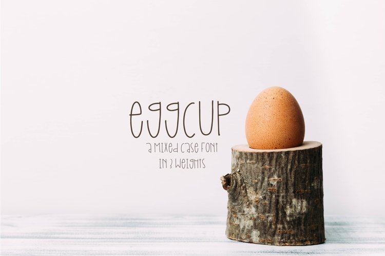 Eggcup - A Mixed Case Font with Three Weights example image 1