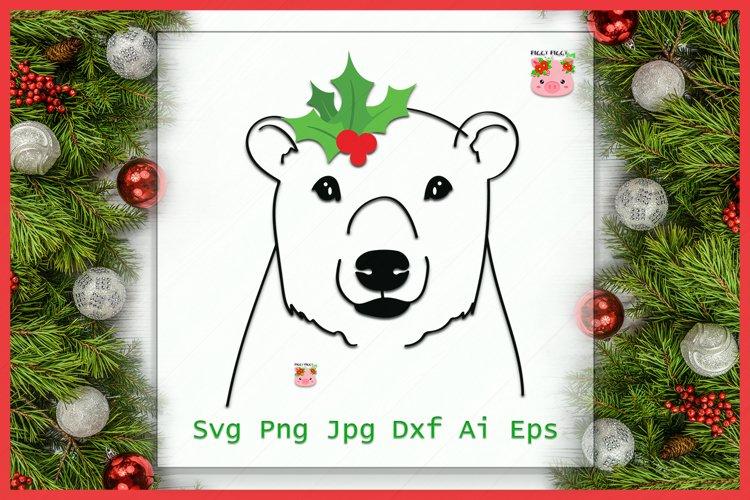 Christmas Polar Bear SVG, Bear SVG, Christmas SVG, Holidays example image 1