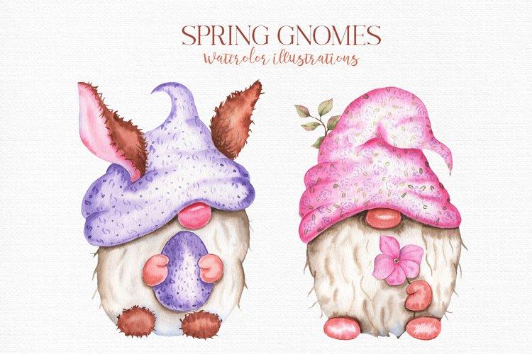 Spring Gnomes Watercolor Files