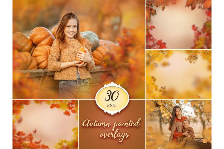 30 Autumn Painted Photo Overlays example image 1