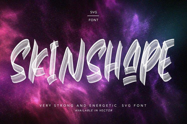 Web Font Skinshape - Energetic SVG Font example image 1