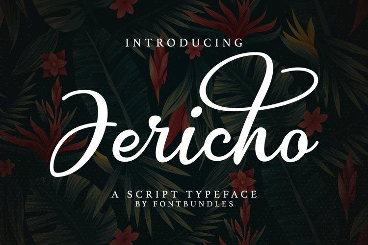 Web Font Jericho example image 1