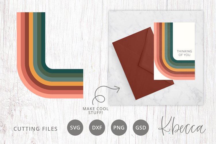 Rainbows Bend SVG Cut File