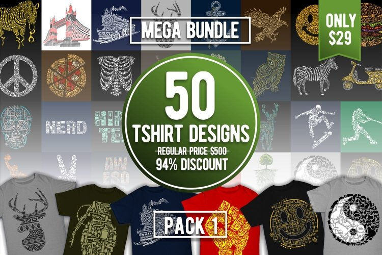 Tshirt Designs Mega Bundle Pack 1
