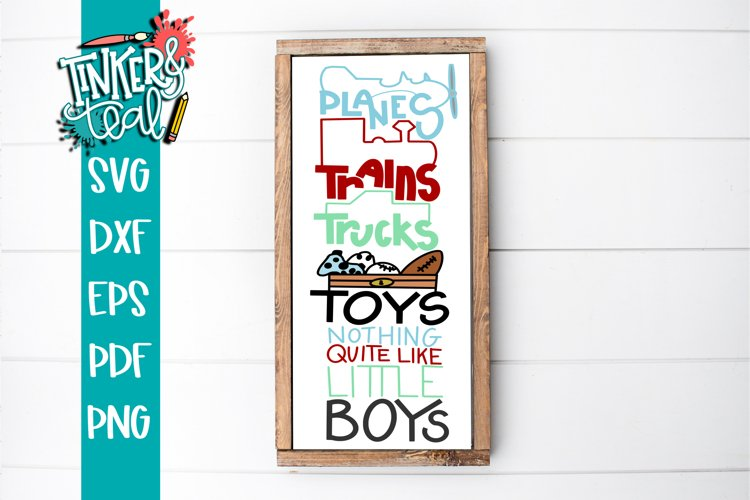 Planes Trains Trucks Toys and Boys SVG