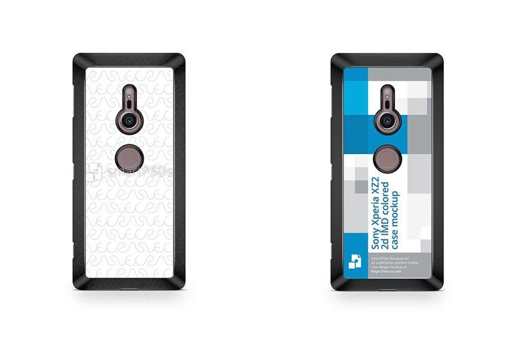 Sony Xperia XZ2 2d Colored Case Design Mockup 2018 example image 1