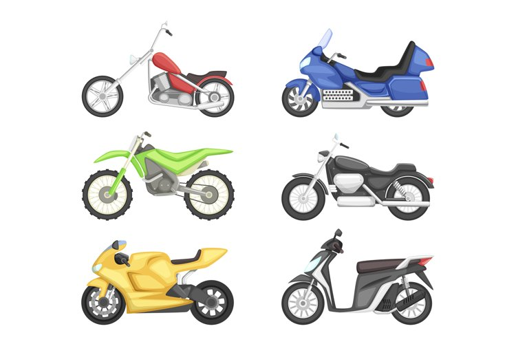 Chopper, cruiser sport bike and others types of motorcycles. example image 1