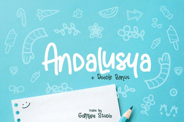 "Andalusya - ""Plus Doodle Bonus"" // Web Font example image 1"