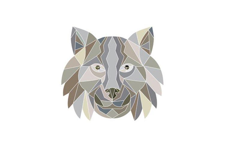 Lynx Cat Head Low Polygon  example image 1