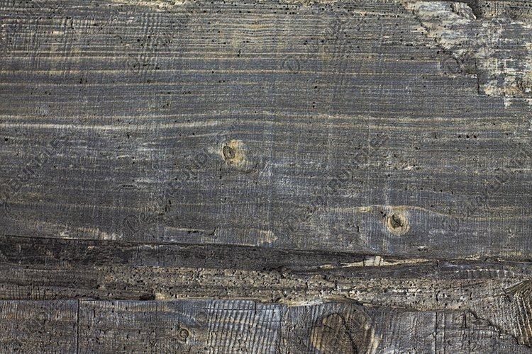 Gray wood background. Wooden kitchen table oak board. example image 1