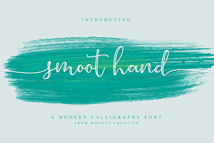 Smoot Hand | NEW Script Font example image 1
