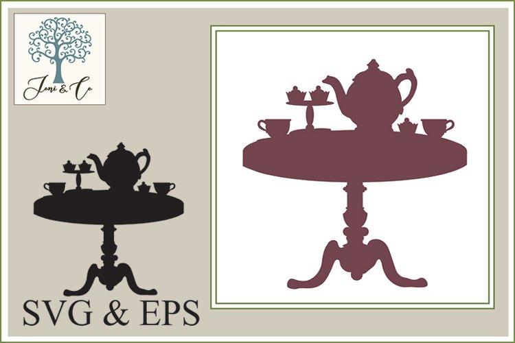 Tea Table Silhouette