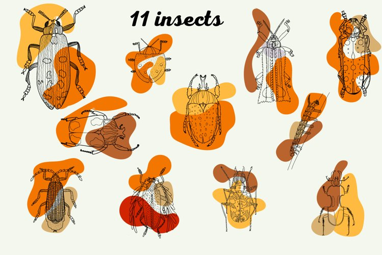 Insects SVG, Bugs SVG, EPS, example image 1