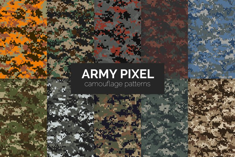 Army Pixel Camouflage Patterns example image 1