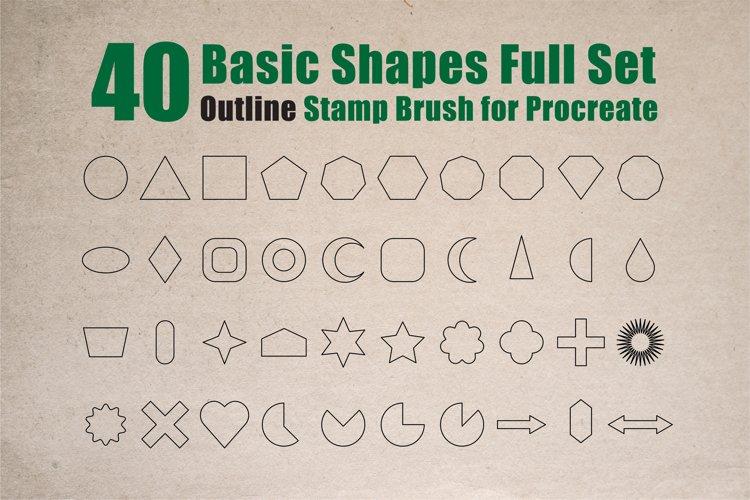 Procreate Brush stamp, Basic Shapes Stamp Brushes example image 1