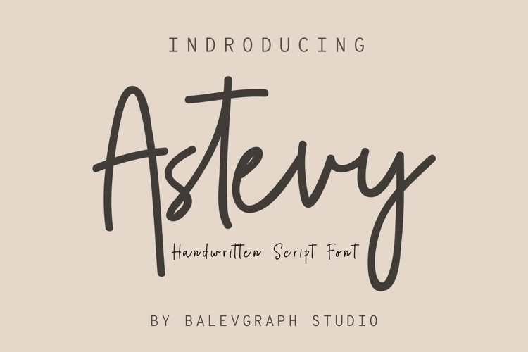 Astevy Handwritten Font example image 1