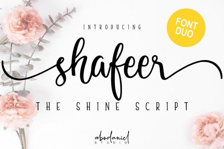 Shafeer -Beauty Font Duo- example image 1