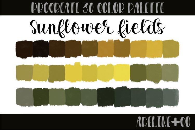 Sunflower fields procreate color palette