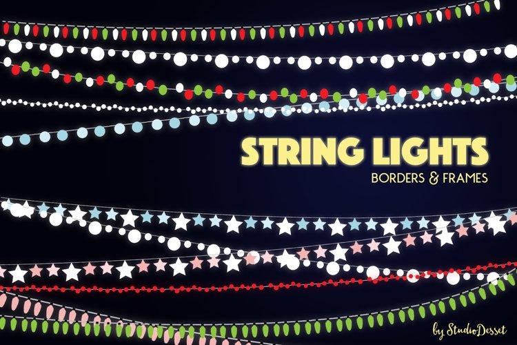 String Lights - Borders and Frames Illustrations