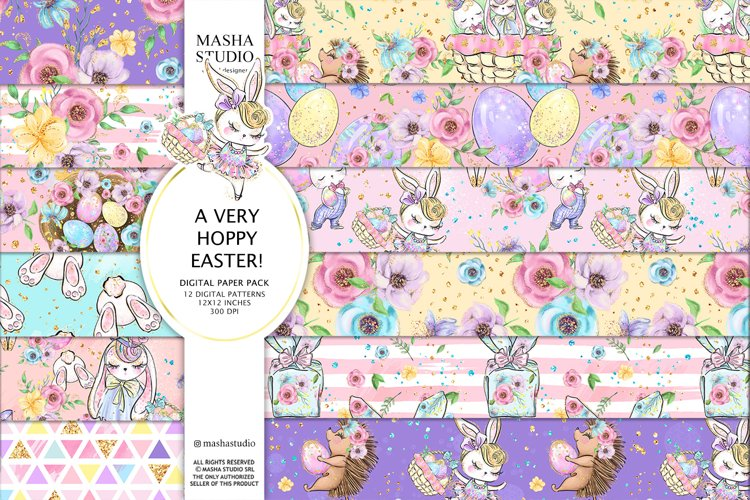 A VERY HOPPY EASTER 2021 Digital Papers