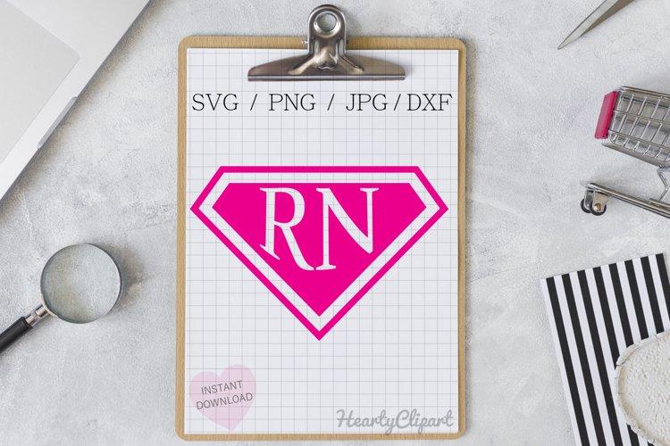 super registered nurse svg , cutting files example image 1