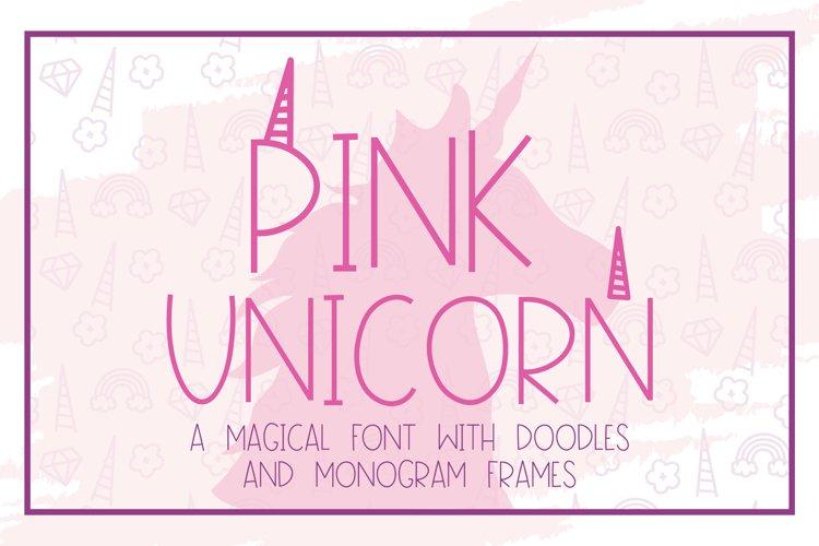 Pink Unicorn - A Magical Monogram Font example image 1