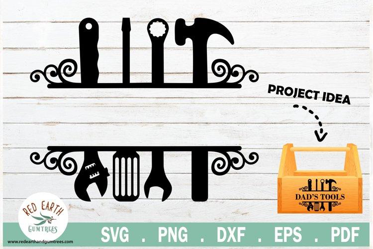 Handyman split monogram frame toolbox decal SVG,EPS,PNG,DXF